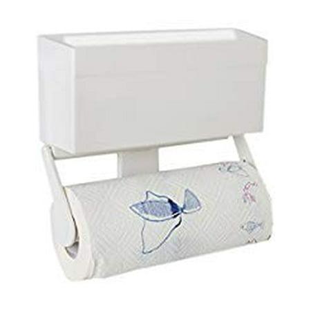 magnetic paper towel holder with storage shelf for fridge kitchen multifunctional magnet hook. Black Bedroom Furniture Sets. Home Design Ideas