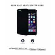 Refurbished Lifeworks Luxe Slim Leatherette Case for iPhone 6 in Smooth Black - Features Ergonomic Grip with Added Protection