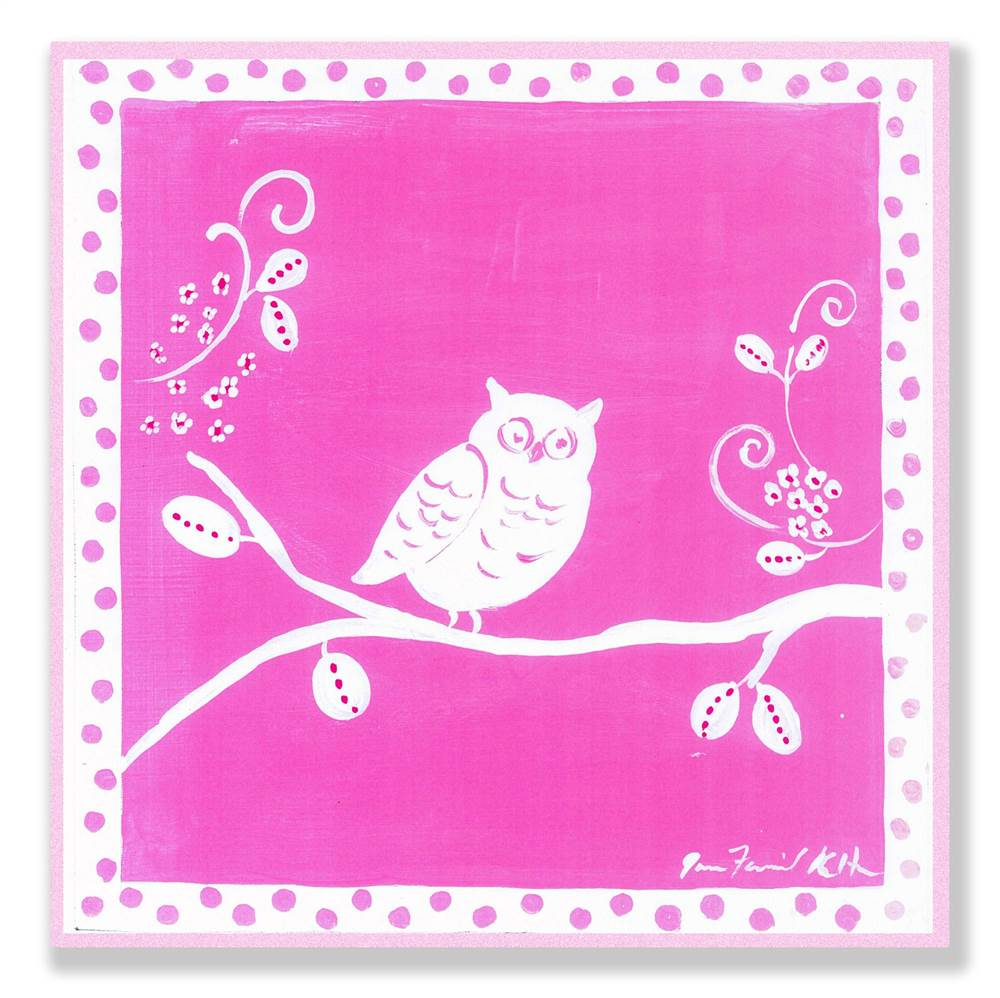 Owl Square Wall Plaque