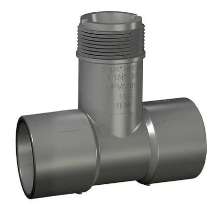 Gf Piping Systems 3   Socket Pvc Insertion Tee Sched 80  Pv8t030