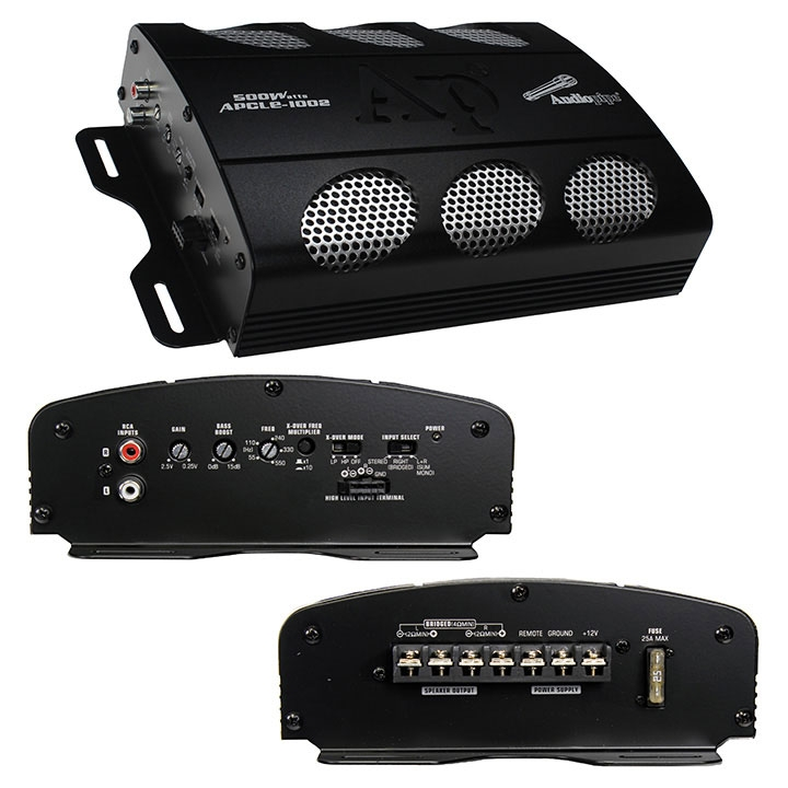 2 Channel 500 Watt Stereo Amplifier Car Audio Amplifier For Stereo  - Black