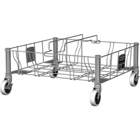 Rubbermaid Commercial, Stainless Steel Double Dolly, 1 Each, Stainless Steel Commercial Trainable Dolly