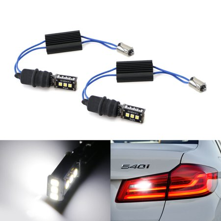 iJDMTOY 6000K Xenon White CAN-bus Error Free 9-SMD-3030 LED Lighting Kit For 2017-up BMW G30 5 Series 530i 530e 540i 550i Backup Reverse Lights