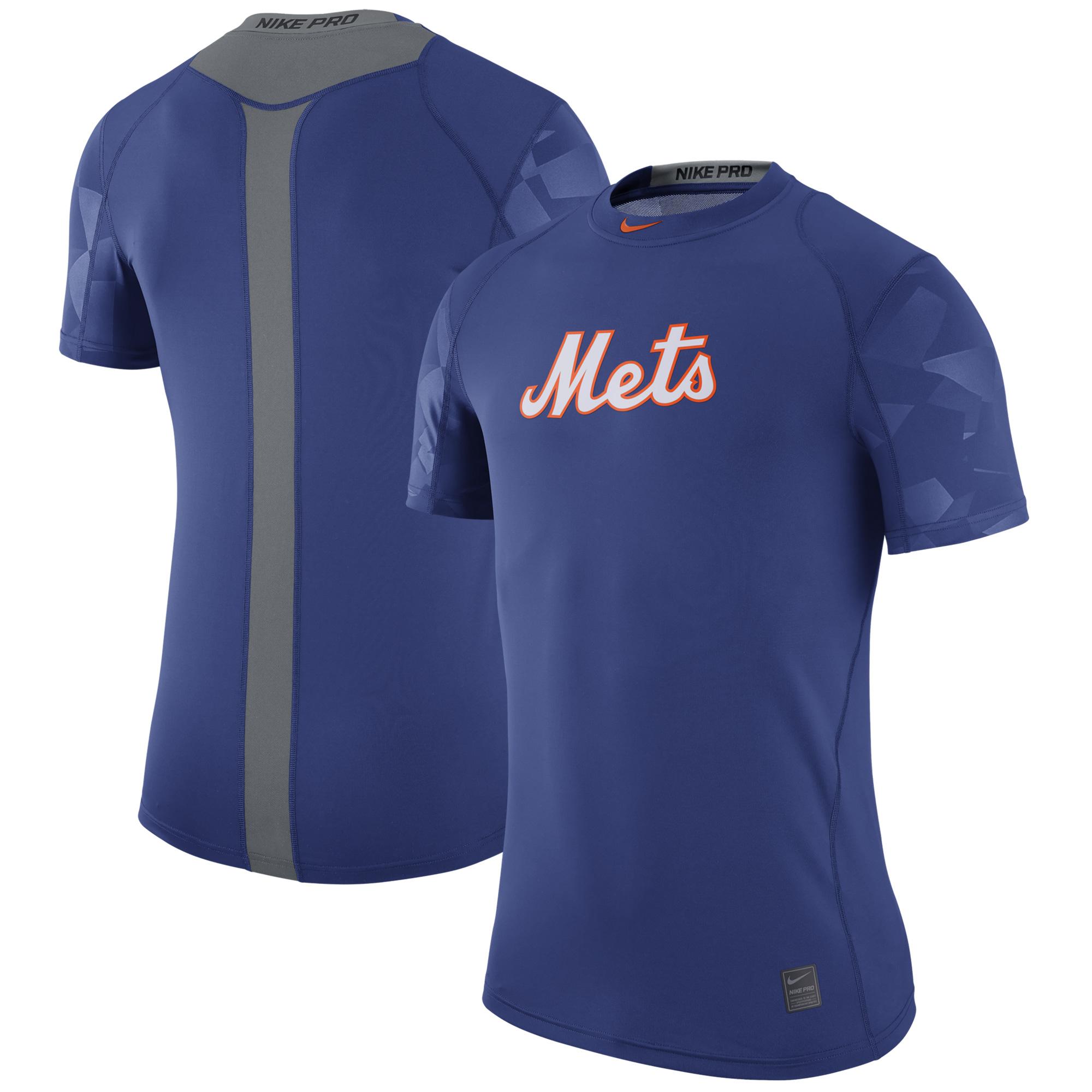 New York Mets Nike Pro Cool Performance T-Shirt - Royal