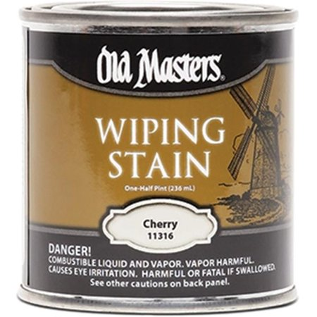 Old Masters 11316 0.5 Pint. Cherry Wiping Stain, 240 Voc