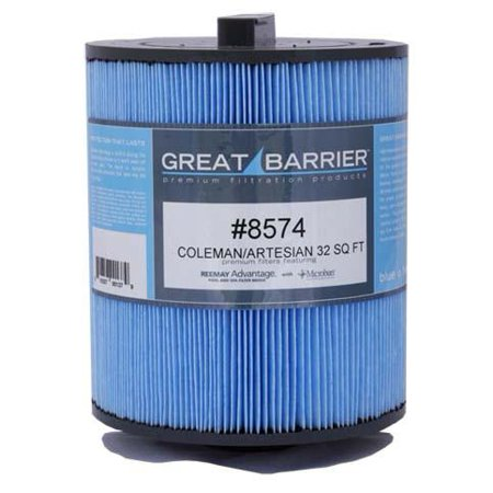 Hot Tub Great Barrier Filter 32 Sf Artesian Coleman Single Replacement
