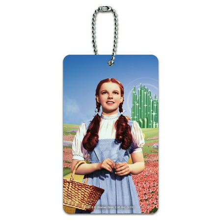Wizard of Oz Dorothy Character Luggage Card Suitcase Carry-On ID Tag Wizard Oz Characters