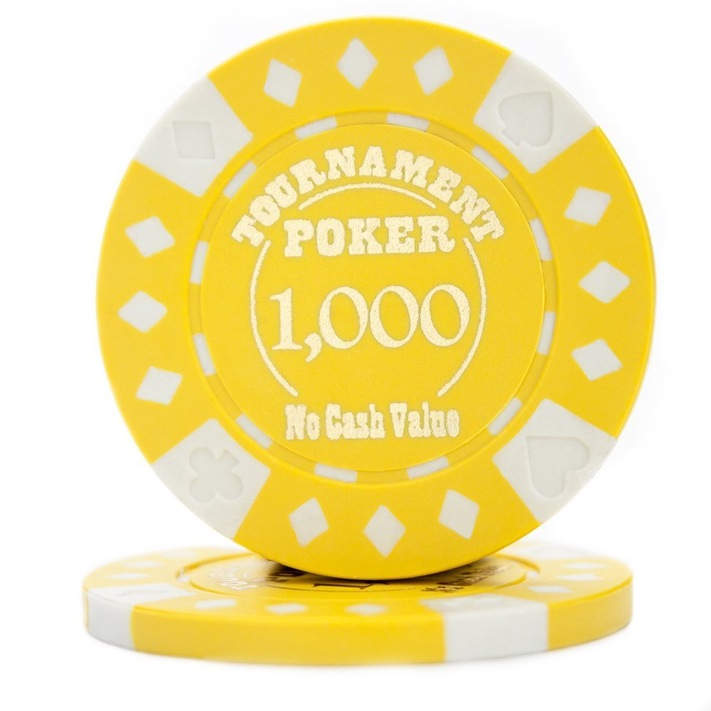 Professional Poker Chips, Pack Of 25 Texas Holdem Tournament Quality Poker Chips