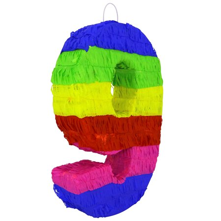 Pinata For Sale (Lutema Colorful Number Nine Pinata Great for Any Birthday, Anniversary)