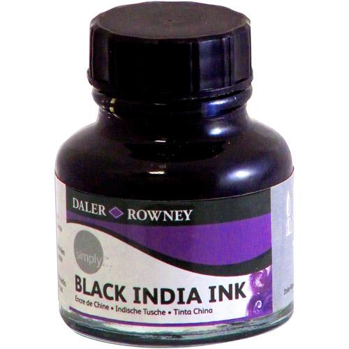 Daler Rowney Simply Black India Ink, 1 oz