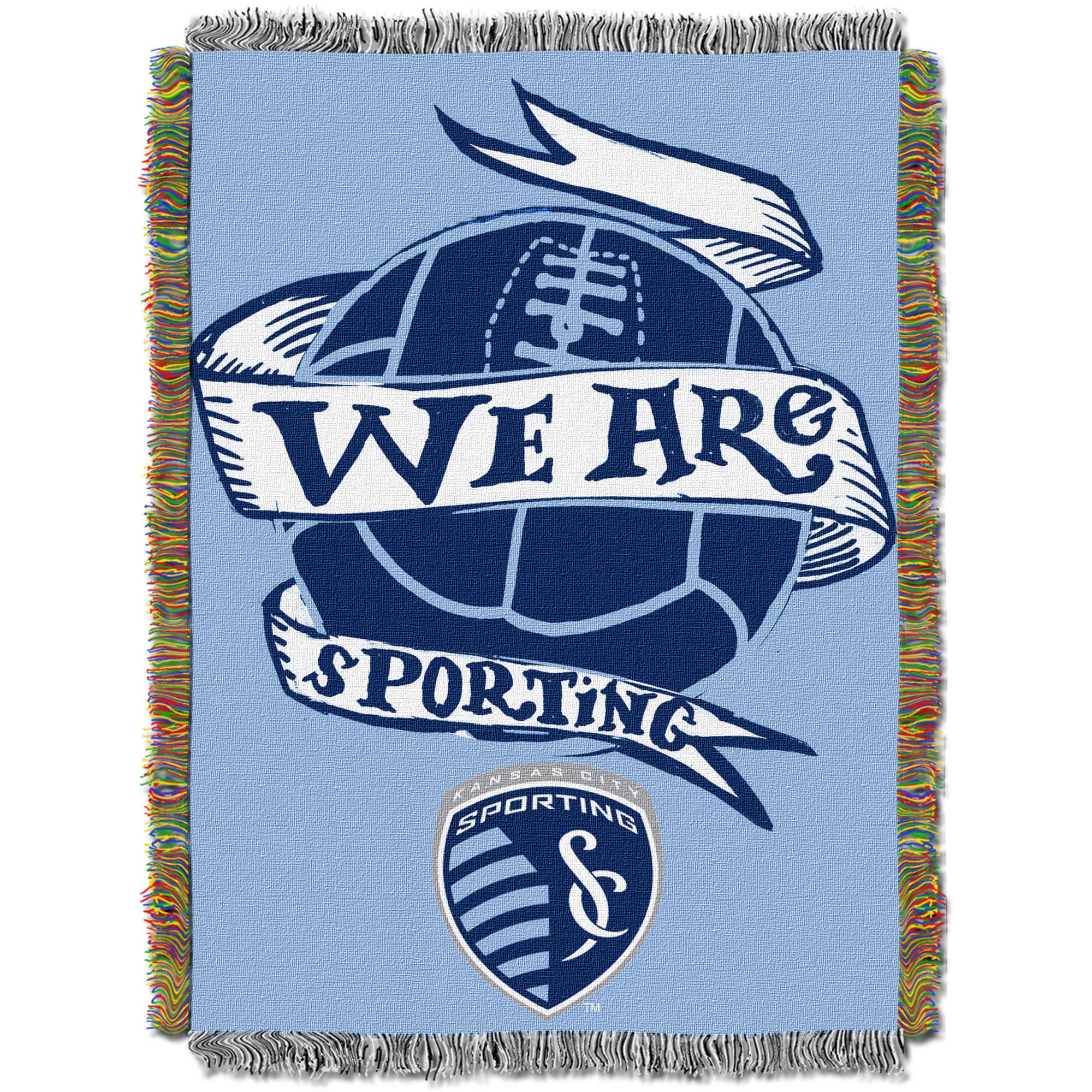 "MLS Sporting Kansas City Handmade 48"" x 60"" Woven Tapestry Throw"