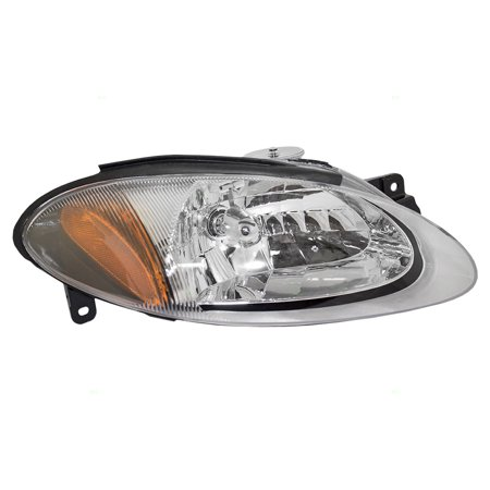 BROCK Halogen Combination Headlight Headlamp Passenger Replacement fits 98-03 Ford Escort ZX2 Coupe XS4Z13008CA