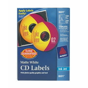 Avery CD Labels, Matte White, 100 Disc labels & 200 Spine labels (8691)