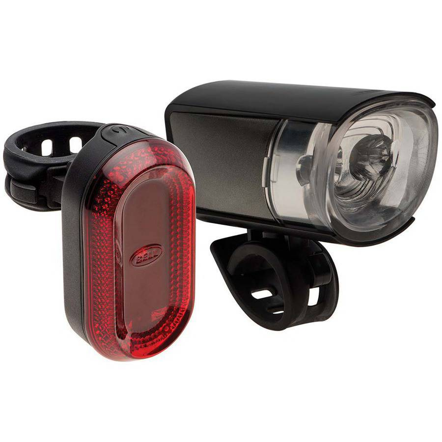 Bell Sports Lumina Bicycle Headlight and Tail Light Set, Black