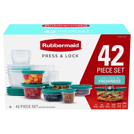 Rubbermaid Wavebrake Down Press (Rubbermaid 42-piece Press & Lock Food Storage Set)