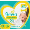 Pampers Swaddlers Diapers Size N 140 Count
