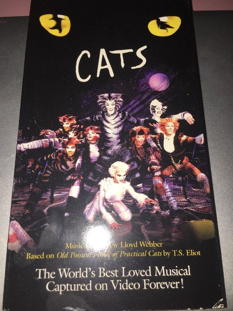 Cats The Musical (VHS, 1998) ,USED,TESTED,RARE VINTAGE COLLECTIBLE,SHIPS N  24 HRS,FREE SHIPPING