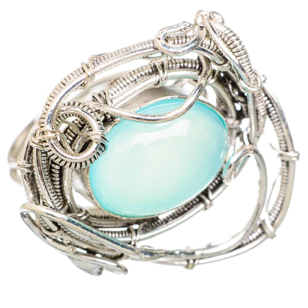Ana Silver Co Aqua Chalcedony Ring Size 6.5 (925 Sterling Silver) Handmade Jewelry RING847160 by Ana Silver Co.