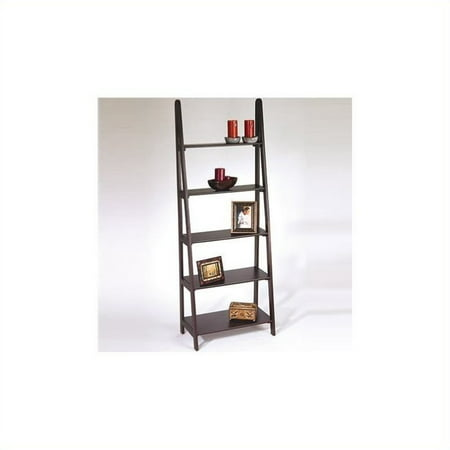 5-Shelf Ladder Bookcase, Espresso