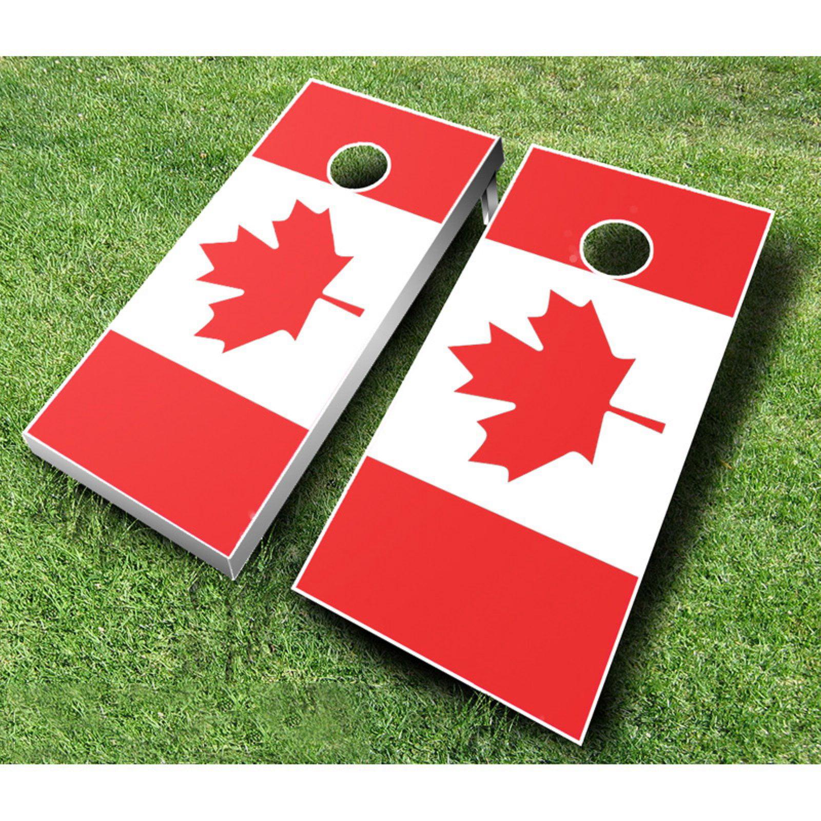 Canadian Flag Tournament Cornhole Set by AJJ Cornhole