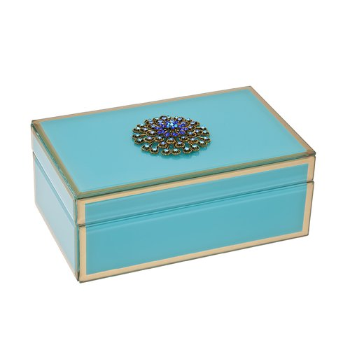 Philip Whitney Jewelry Box with Brooch Accent by Philip Whitney