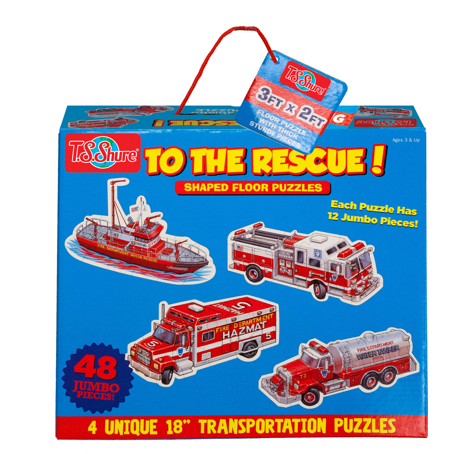 T.S. Shure To The Rescue! Jumbo Floor Puzzles by T.S. Shure