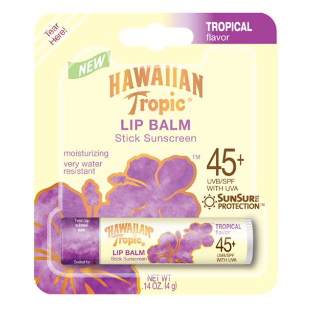 24 Pack NEW Hawaiian Tropic Moisturizing Lip Balm Sunscreen, SPF 45 .14 oz