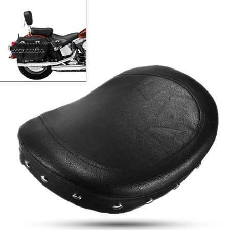 Black Motorcycle Rear Seat Back Pad Cushion Passenger Backrest For Honda Yamaha