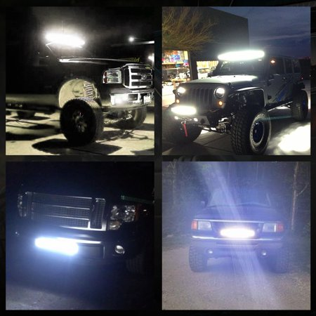 """7"""" Tri Rows 18W 18 3030-SMD-LED Spot Work Light Bar Offroad Boat 4WD - image 2 of 10"""
