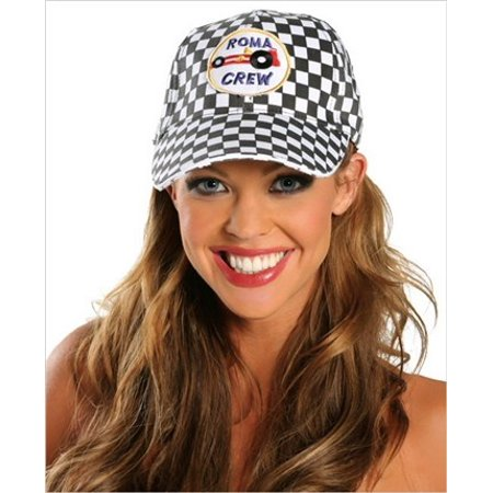 Women's Racer Cap Adjustable Racing Hats - Racing Costume