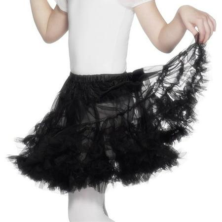 Petticoat Child Child Costume Accessory Black](Petticoat Costume)