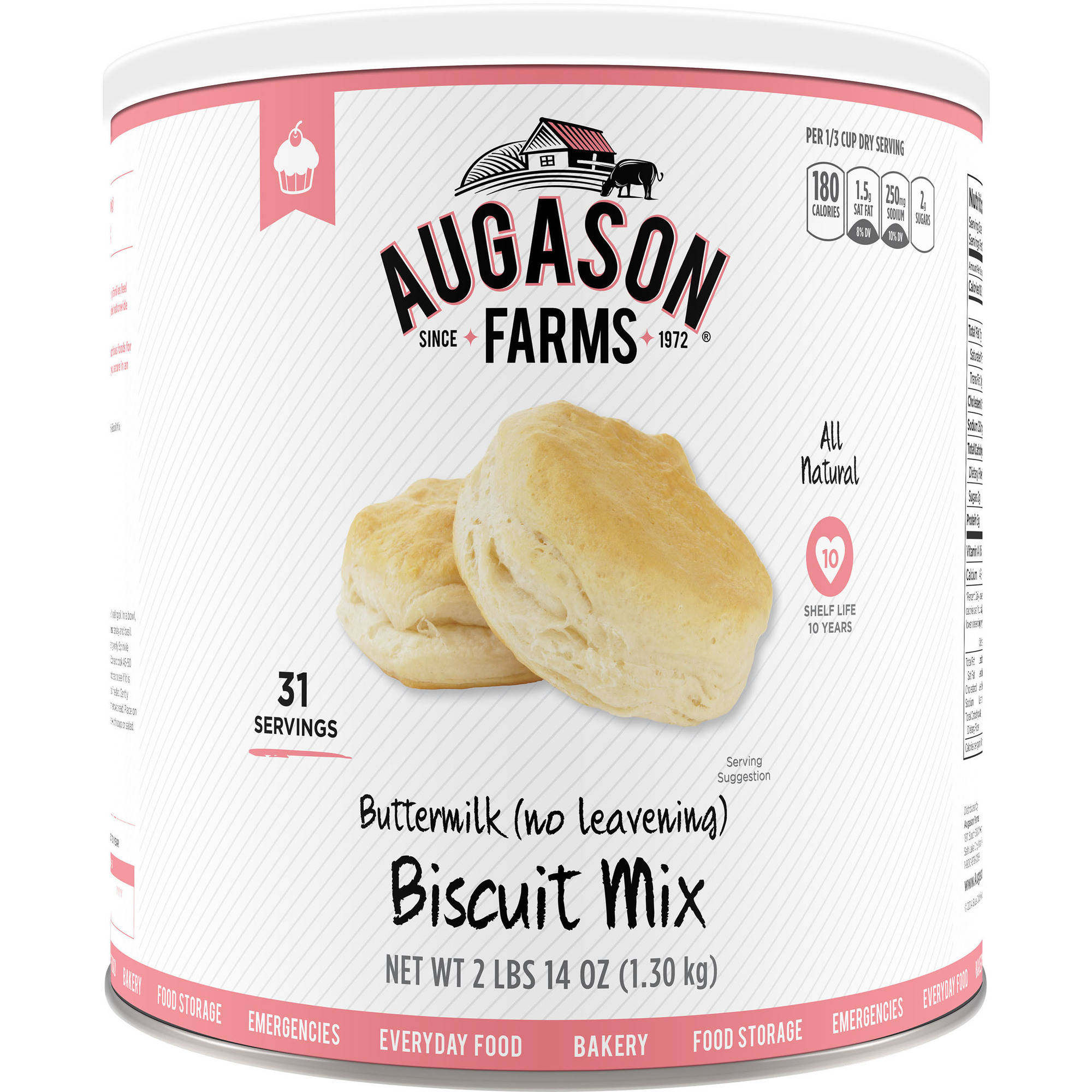 Augason Farms Emergency Food Buttermilk Biscuit Mix, 46 oz