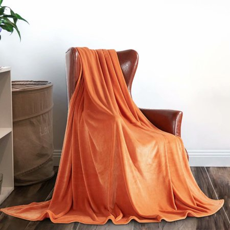 Merrylife Throw Blanket Decorative Home Couch Outdoor Travel Use Apricot 90