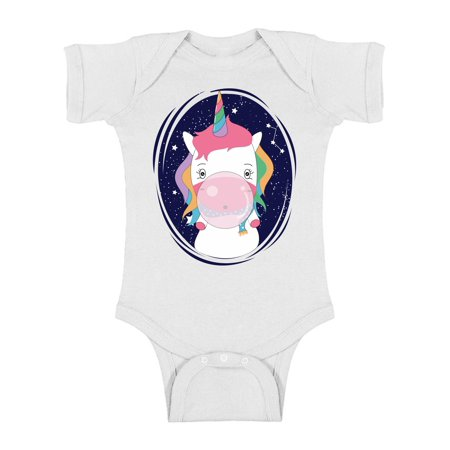 Awkward Styles Cute Unicorn Baby Bodysuit Animal Lover Gifts One Piece Unicorn Outfit for Newborn Baby Gift for 1 Year Old Unicorn Baby Shower Party Boy and Girl Birthday Clothing