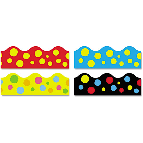"TREND Terrific Trimmers Border, 2-1/4"" x 39', 48pc, Lotsa Spots Assorted"