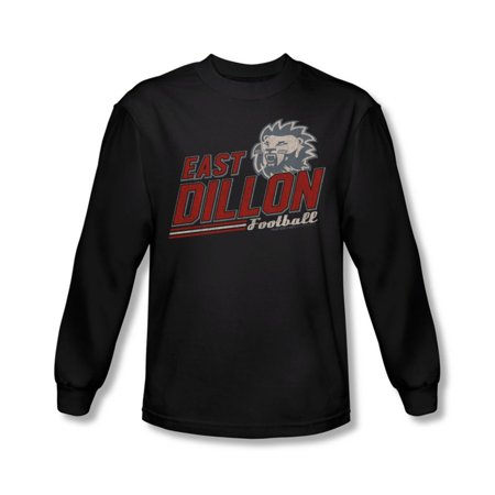 Friday Night Lights - Mens Athletic Lions Long Sleeve Shirt In Black