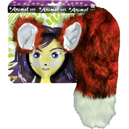 Morris Costumes Accessories & Makeup Animals Fox Ears And Tail Set, Style FM68604 - Fox Ear Costume