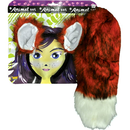 Morris Costumes Accessories & Makeup Animals Fox Ears And Tail Set, Style FM68604 - Fox Tail Costume Accessories