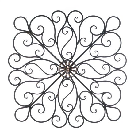 Metal Wall Decorations, Iron Scrollwork Decorative Metal Wall Decor Home