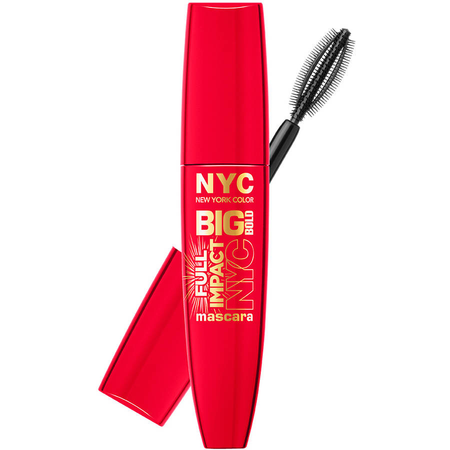NYC New York Color Big Bold Full Impact Mascara, Extra Black, 0.41 fl oz