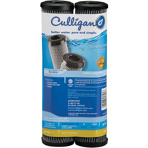Culligan D-10 Level 1 Basic Filtration Drinking Water Replacement Cartridge, 2pk