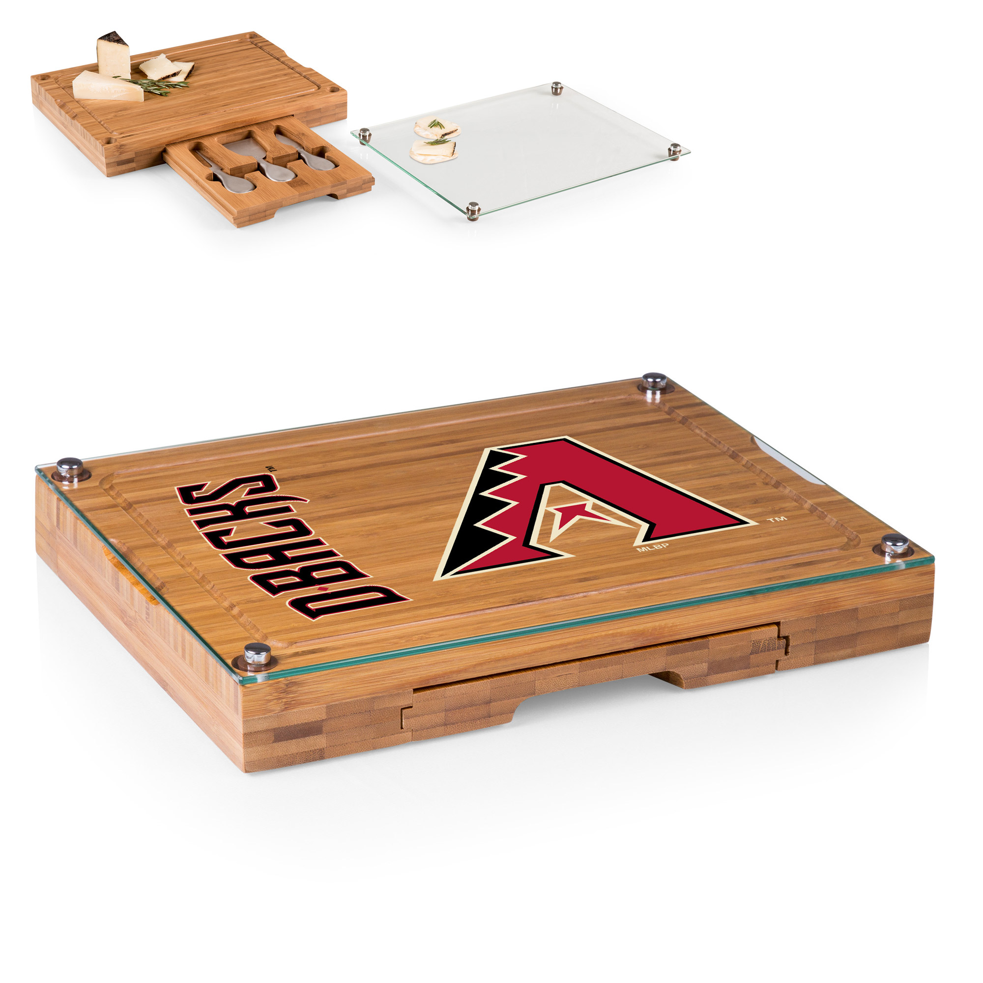 Arizona Diamondbacks Concerto Cheese Board with Serving Stage and Tools - No Size