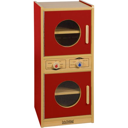 Colorful Essentials Washer and Dryer Play Set, Red