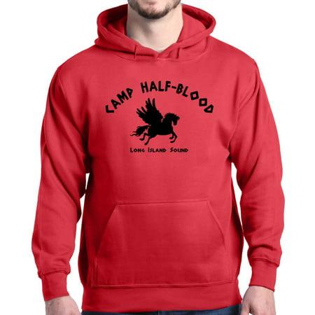 Shop4ever Mens Camp Half Blood Long Island Sound Demigods Hooded Sweatshirt Hoodie