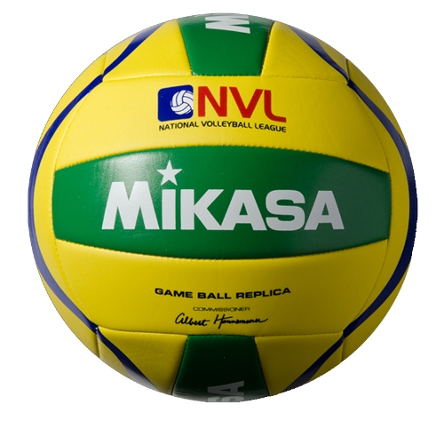 Beach Volleyball by Mikasa Sports, Size 5 Official - NVL-YG, Yellow/Green