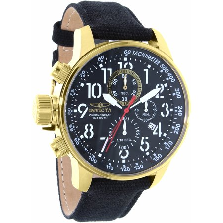 Invicta Men's I-Force 1515 Black Leather Swiss Chronograph Dress Watch