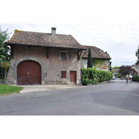 Village People Biker (Canvas Print Italy Laconnex Villa Bikers Brick Village Geneva Stretched Canvas 10 x)