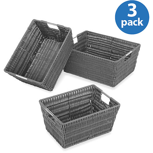 Whitmor Rattique Baskets, Set of 3