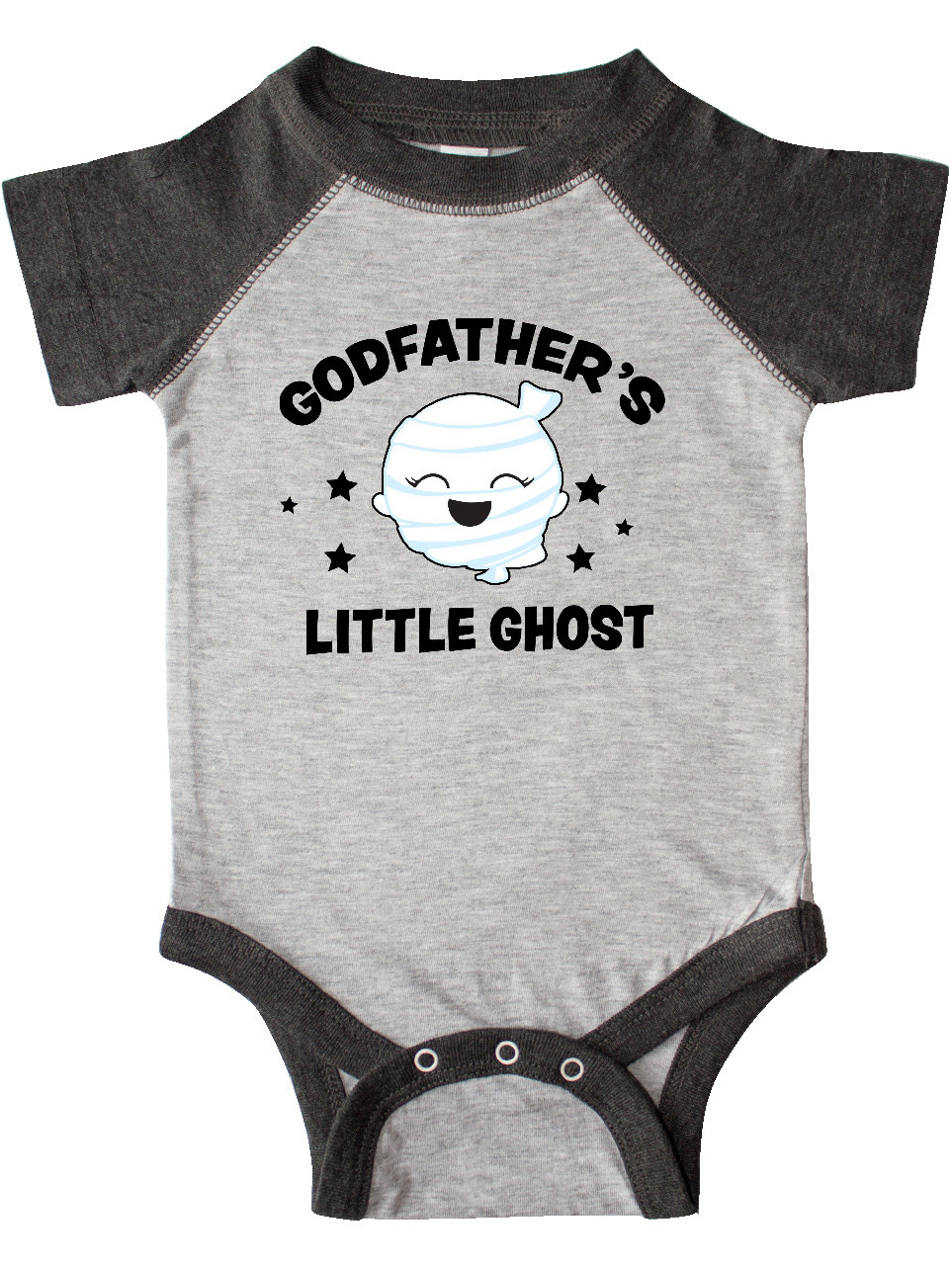 inktastic Cute Godfathers Little Ghost with Stars Toddler Long Sleeve T-Shirt