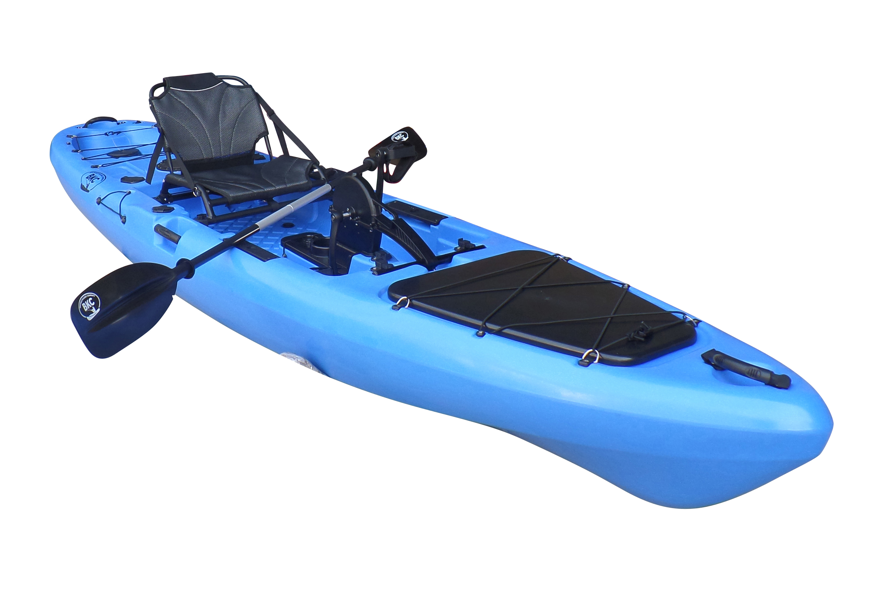 Bkc Uh Pk13 Pedal Drive Solo Traveler 13 Foot Kayak Pedal Propeller Drive Single Person Sit On Top Fishing Kayak With Pedal Drive Rudder System Paddle And Seat Included Walmart Com Walmart Com